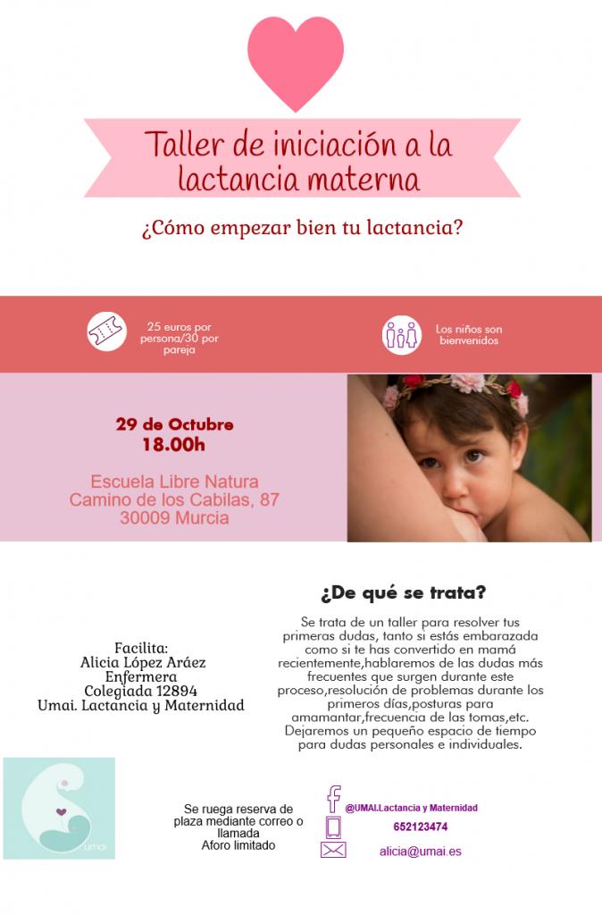 TALLER INICIO LACTANCIA OCTUBRE ESCUELA LIBRE NATURA